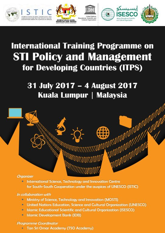 ITPS - International Training Programme on STI Policy and Management for Developing Countries
